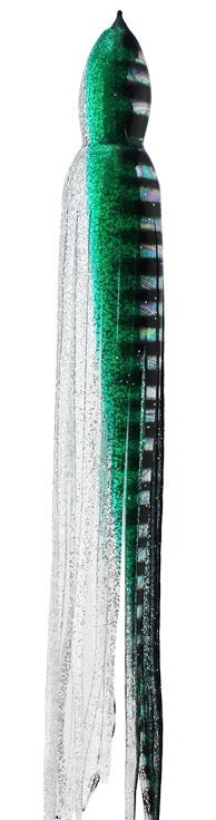 Green Silver Aurora Black Bars Replacement Lure Skirt, Octopus Style