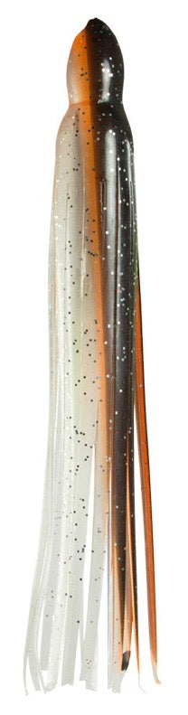 Brown Orange Clear Iridescent Replacement Lure Skirt, Octopus Style