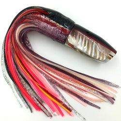 Crampton Plunger Lure Golden Lip MOP Black-Purp Top Red Line