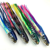 Koya Lures 9+ Real Opelu Fish Head Bullets - Blue, Green, Purple Tops