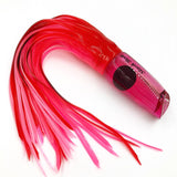 Legendary Lures Medium Slash Bait RUBY RED HEAD Carrot Top Skirting