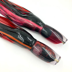 Coggin Copalure 45 Fish Head Custom Red Black Glitter