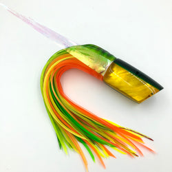 Crampton HoG Lure Golden Lip MOP Green Yellow Double Pour Wings Bleeding Mahi