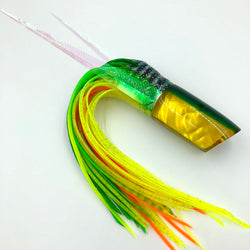 Crampton HoG Lure Golden Lip MOP Green Yellow Double Pour Wings