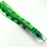 "Tsutomu Lures 12"" Fish Head Plunger Green Mackerel Rubber Skirts"