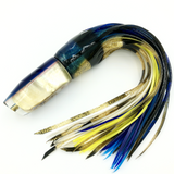 "Crampton Plunger Lure Golden Lip MOP Blue Top Yellowfin 12"" Skirt"