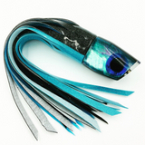 Koya Lures Large 861 Black Ice Blue Shell Special 2-Color Vinyl Tuna Skirting