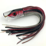 "Tsutomu Lures 12"" Fish Head Scoop Face Plunger Black Red Silver"