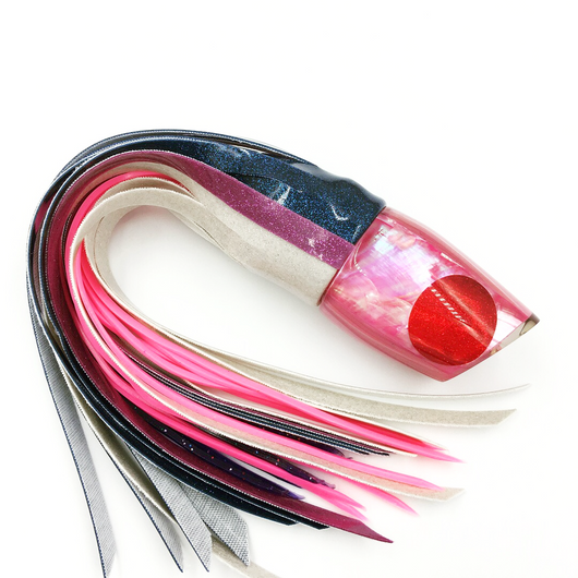 Koya Lures Large 861 Special 3-Color Vinyl Skirting Blue-Pink Pink Shell Head