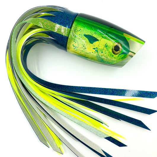 Koya Niiyama Mahi Fish Head Large Poi Dog Lure Triple Pour Custom Vinyl Skirting