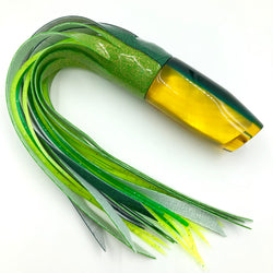 Crampton Plunger Lure Golden Lip MOP Green Yellow Double Pour Vinyl