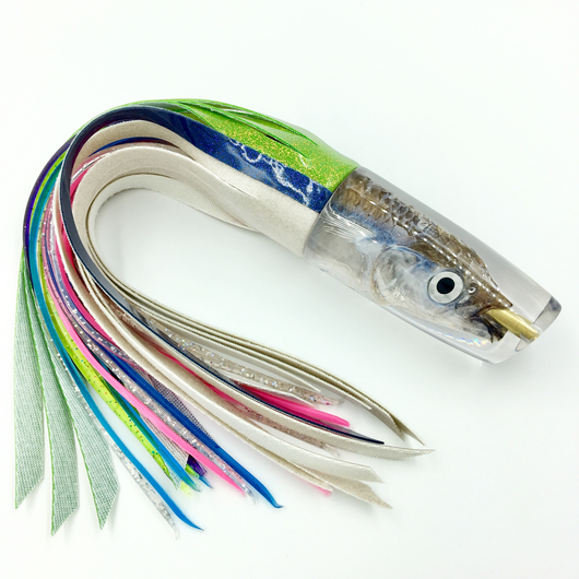 KC Lures Real Ballyhoo Fish Head Super Plunger Special Vinyl Skirting
