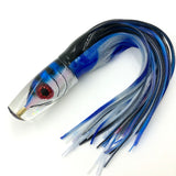"Tsutomu Lures 12"" Fish Head Scoop face Plunger Blue Black Bars ""Blue Tuna"""