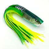 "KC Lures Real Fish Head Real Opelu 14"" Plunger Green Top Mahi"