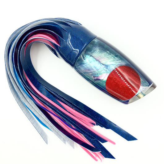Koya Lures Large Poi Dog Ice blue Shell Royal Blue Insert Vinyl