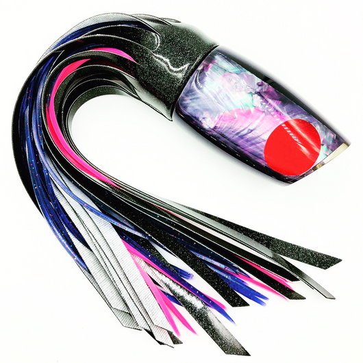 Koya Lures Large Poi Dog Purple Shell Insert Black Vinyl