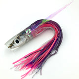"KC Lures Real Ballyhoo Fish Head 12"" Natural Plunger Purple Blue Pink"