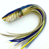 Crampton Plunger Lure Golden Lip MOP Blue Top Yellow Line Vinyl