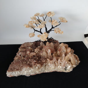 Arbre de vie quartz rose no.152