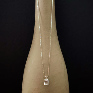 Emerald faceted crystal pendant