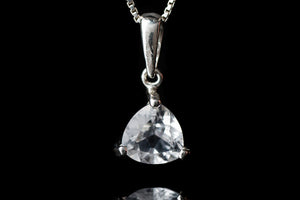 Trillion faceted crystal pendant