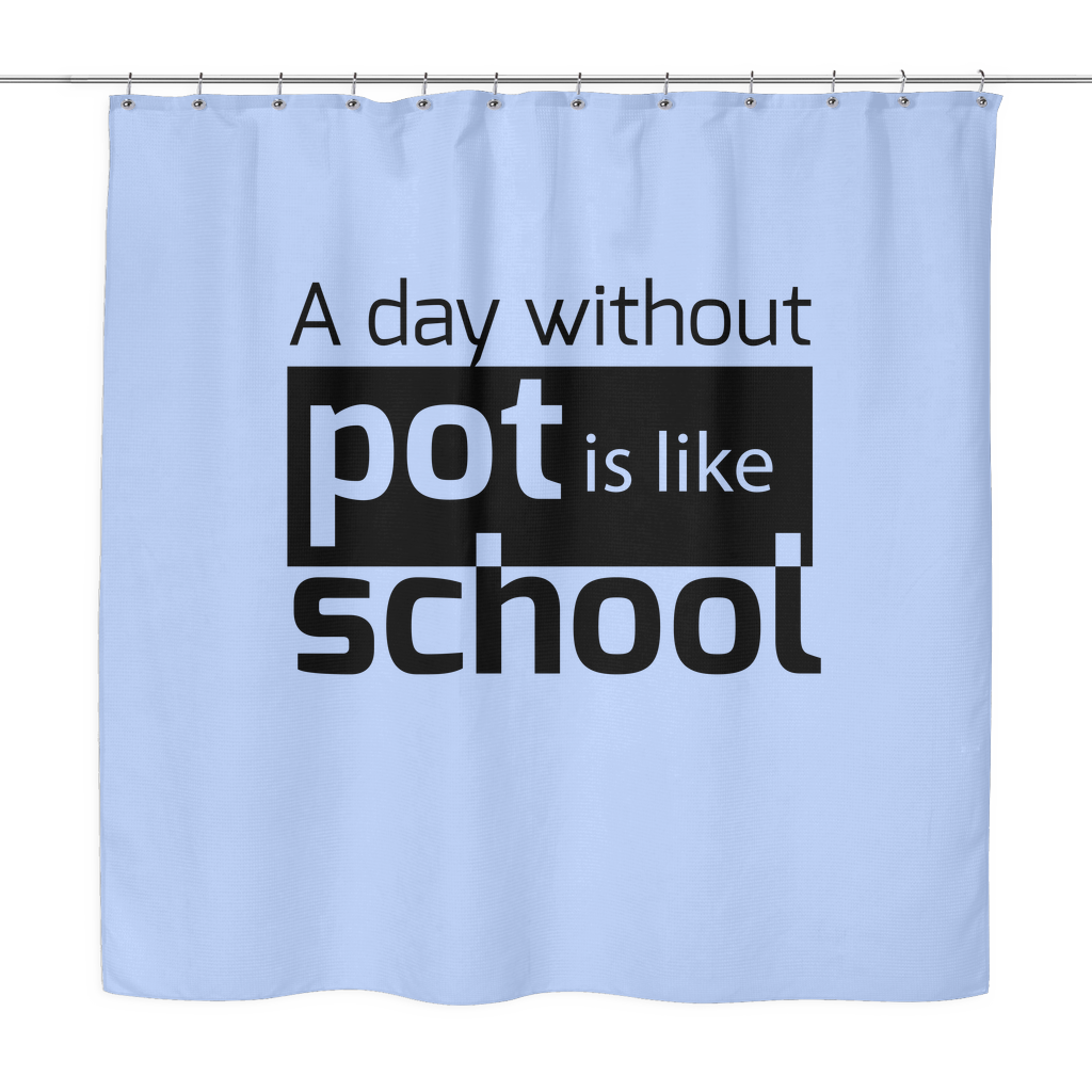 Like School Shower Curtain   Blaze and Leaf   Weed Clothing