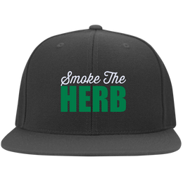 Smoke The Herb Flat Bill Cap