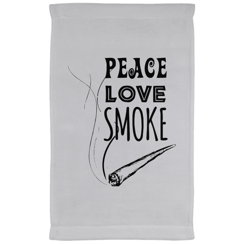 Peace Love Smoke Kitchen Towel