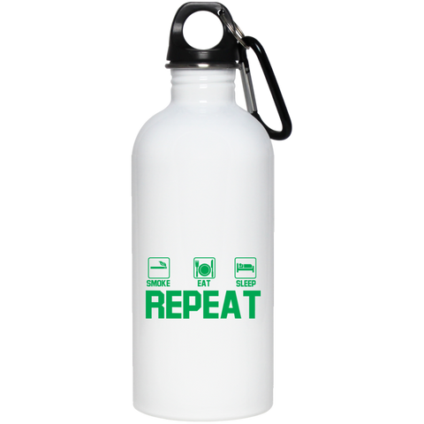 Smoke, Eat, Sleep, Repeat Water Bottle