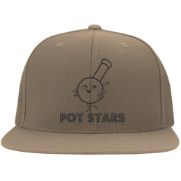 Pot Stars Flat Bill Cap