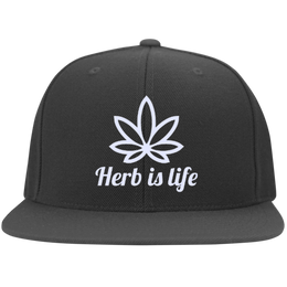 Herb Is Life Flat Bill Cap
