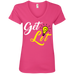 Get Lit Ladies V-Neck T-Shirt