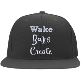 Wake Bake Create Flat Bill Cap