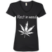 Rest In Weed Ladies V-Neck T-Shirt