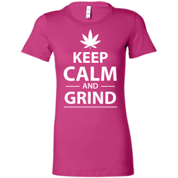 Keep Calm And Grind Ladies T-Shirt