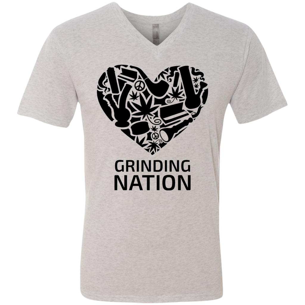 Grinding Nation Men's V-Neck T-Shirt
