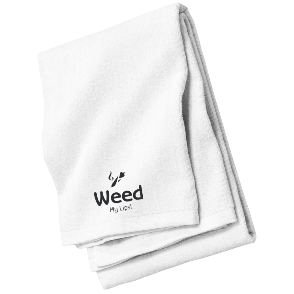 Weed My Lips Beach and Bath Towel