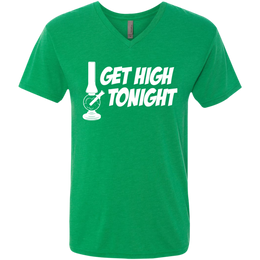 Get High Tonight Men's V-Neck T-Shirt