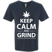 Keep Calm And Grind Men's V-Neck T-Shirt