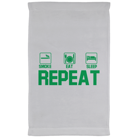 Smoke, Eat, Sleep, Repeat Kitchen Towel