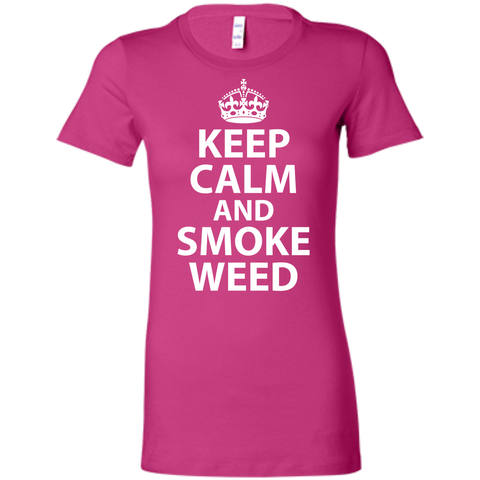Keep Calm And Smoke Weed Ladies T-Shirt