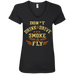 Don't Drink And Drive Ladies V-Neck T-Shirt