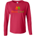 Blaze And Leaf Ladies Long Sleeve T-Shirt