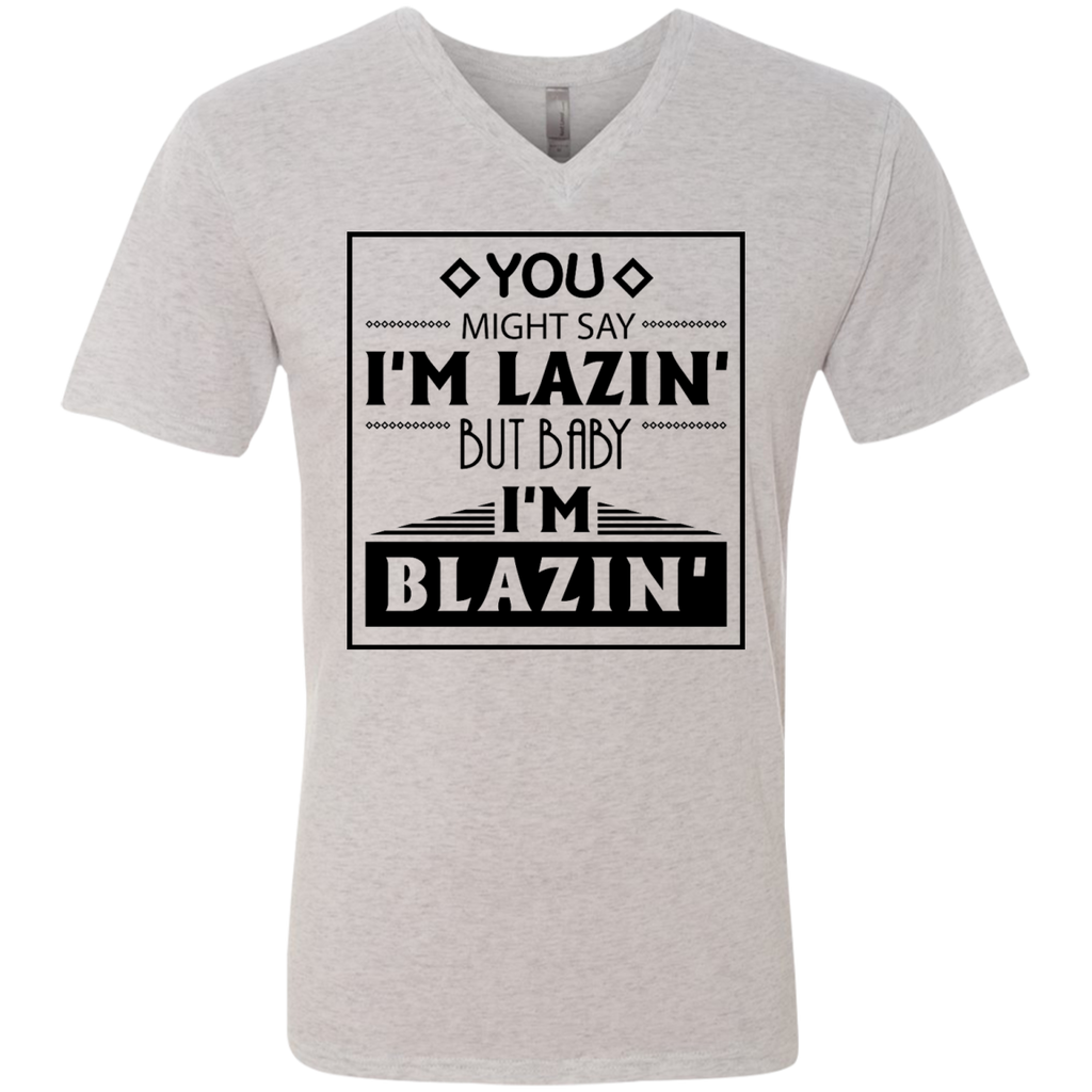 Baby I'm Blazing Men's V-Neck T-Shirt