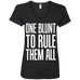 One Blunt Ladies V-Neck T-Shirt