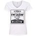 Baby I'm Blazing Ladies V-Neck T-Shirt
