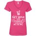 Cuddle With Me Ladies V-Neck T-Shirt