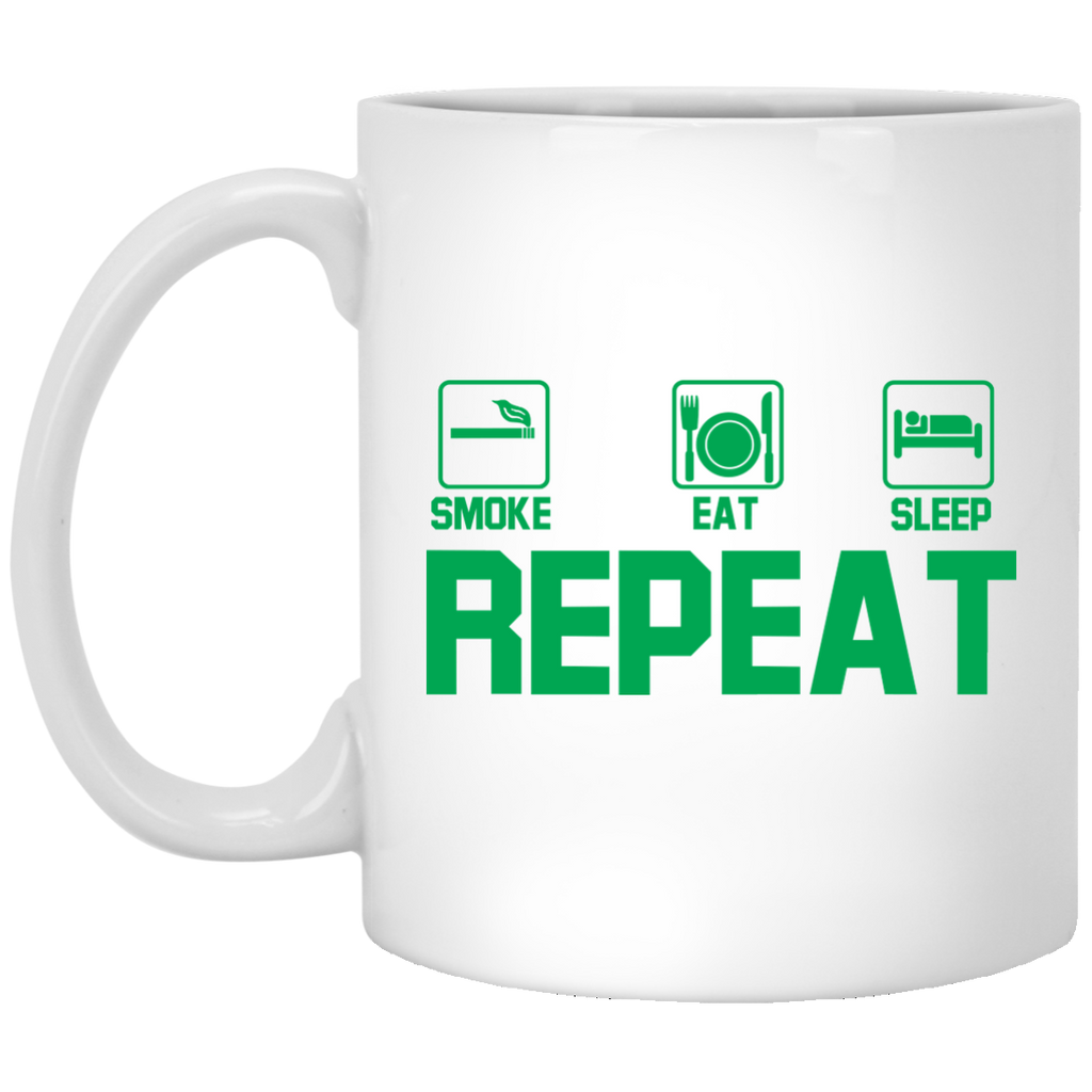 Smoke, Eat, Sleep, Repeat Mug