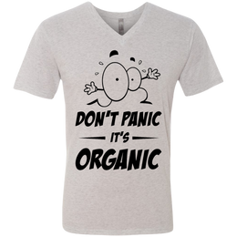 Don't Panic, It's Organic Men's V-Neck T-Shirt