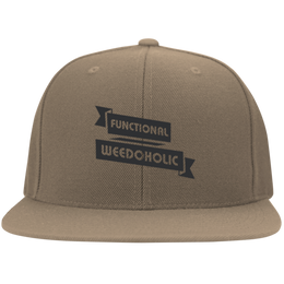 Functional Weedoholic Flat Bill Cap